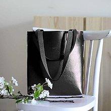 Kabelky - Kožená kabelka Sue (big bag čierna) - 9767748_