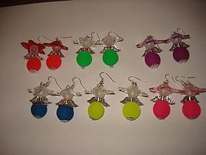 Náušnice - Naušničky v neonových farbách - 9768168_