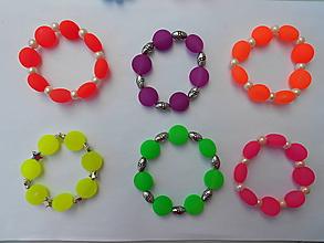 Náramky - Neonové náramky - 9768388_