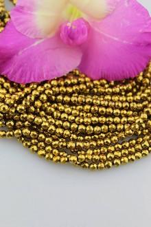 Minerály - hematit zlatý korálky 4mm - brúsené korálky - 9770742_