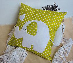 Textil - #Vankúšik (Zelená) - 9768178_