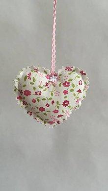 Dekorácie - Srdiečko - dekorácia (Ružová) - 9768967_