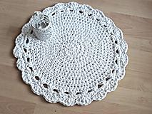 Scandinavian háčkovaný koberec biely 50cm