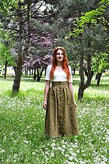 Sukne - Sukňa na gombíky - 9768897_