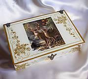 Krabičky - Darčeková drevená krabička na ploskačky - 9769984_