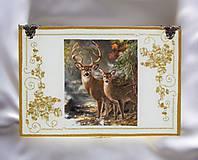 Krabičky - Darčeková drevená krabička na ploskačky - 9769985_