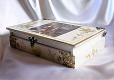 Krabičky - Darčeková drevená krabička na ploskačky - 9770013_