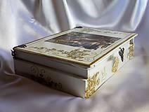Krabičky - Darčeková drevená krabička na ploskačky - 9770014_