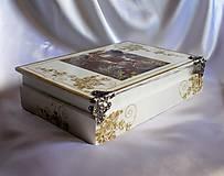 Krabičky - Darčeková drevená krabička na ploskačky - 9770017_