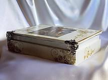 Krabičky - Darčeková drevená krabička na ploskačky - 9770019_