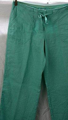 Nohavice - Ľan. Pohodlné rovné ľanové nohavice. - 9768720_