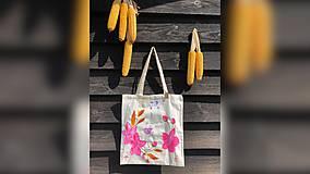 Iné tašky - ♥ Plátená, ručne maľovaná taška ♥ - 9769243_