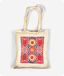 Nákupné tašky - Bavlnená taška V záhrade tulipánov - 9769627_