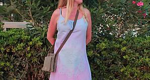 Šaty - Romantické batikované ľanové šaty - 9769148_