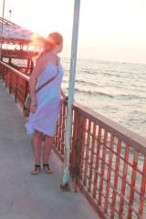 Šaty - Romantické batikované ľanové šaty - 9769150_