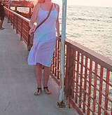 Šaty - Romantické batikované ľanové šaty - 9769151_