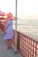 Šaty - Romantické batikované ľanové šaty - 9769152_