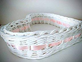 Košíky - košík v tvare srdca - 9770275_