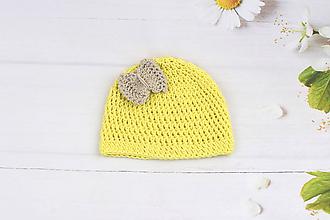 Detské čiapky - Žlto-béžová letná čiapka EXTRA FINE - 9768333_