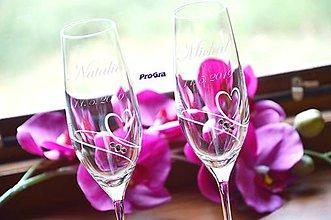 Nádoby - Natalie - svadobné poháre - 2ks - 9770525_