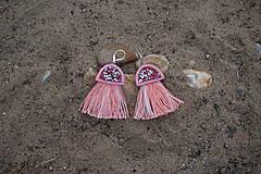 Náušnice - Lososové náušnice-Medúzy - 9770552_