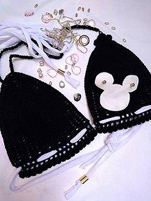 Bielizeň/Plavky - háčkované plavky MOUSE - 9770843_