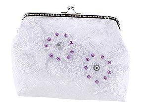 Kabelky - Svadobná kabelka, čipková kabelka pre nevestu bielá 124 - 9769478_