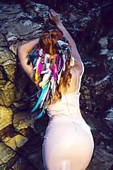Ozdoby do vlasov - Hippie pestrofarebná festivalová čelenka - 9770326_