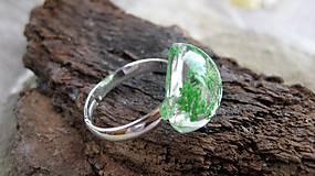 Prstene - Živicový prsteň s kvietkami (zelené kvietky č. 2237) - 9770367_