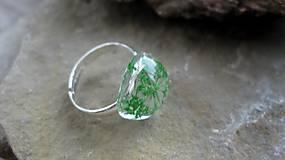 Prstene - Živicový prsteň s kvietkami (zelené kvietky č. 2237) - 9770369_