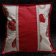 Úžitkový textil - Bordo srdiečka s gombíkmi -  vankúš 40x40 - 9769752_