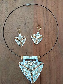 Sady šperkov - Veľký trojuholník - rokajlový set - 9767826_