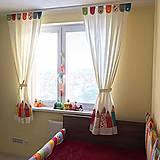 Úžitkový textil - Záves s ceruzkami - 9770381_
