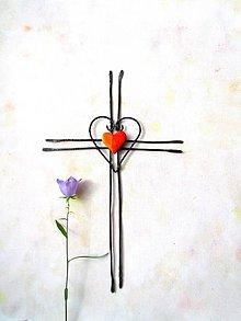 Dekorácie - Veľký tepaný krížik *27 cm - 9768473_