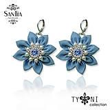 Náušnice - Náušnice modré kvety (Ag 925) - 9768459_