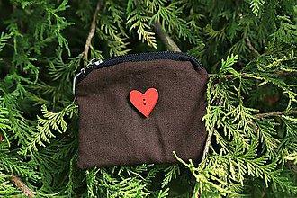 Detské tašky - Malá peňaženka na mince srdce - 9768316_