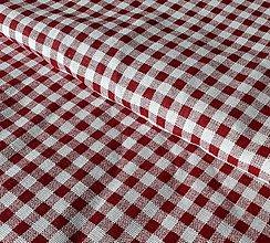 Textil - Červeno biela kocka - 9768698_