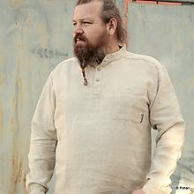Oblečenie - Ľanová košeľa Mojmír konopná - 9772509_