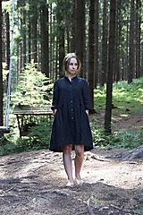 Šaty - Dámske ľanové košeľové šaty - 9772235_