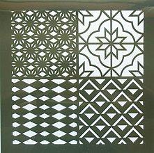 Pomôcky/Nástroje - Šablóna - 30x30 cm - mozaika, trojuholník, ornament, kosoštvorec - 9772472_