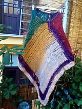 Iné oblečenie - Boho poncho Indian - 9771941_