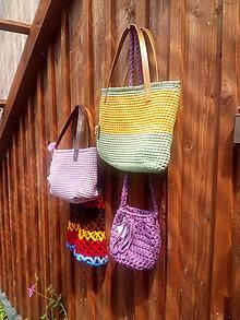 Kabelky - Letní kabelka růžová - 9772349_