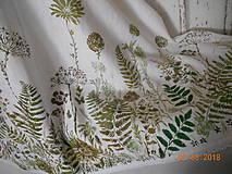 Úžitkový textil - Ľanový obrus, maľovaný, lúčne trávy a paprade... - 9771838_
