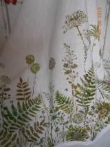 Úžitkový textil - Ľanový obrus, maľovaný, lúčne trávy a paprade... - 9771840_