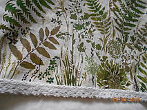 Úžitkový textil - Ľanový obrus, maľovaný, lúčne trávy a paprade... - 9771848_