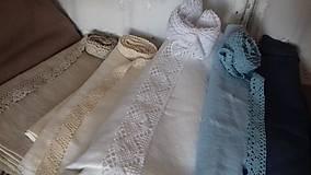 Úžitkový textil - Ľanový obrus, maľovaný, lúčne trávy a paprade... - 9771923_