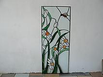 Dekorácie - Margarétky a včielka - 9771209_
