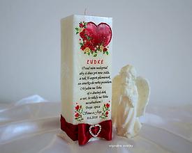 Svietidlá a sviečky - Navždy v mojom srdci - 9773108_