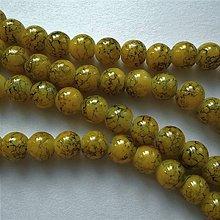 Korálky - Skl.potiahnuté korálky (6mm-oliva/20ks) - 9773609_