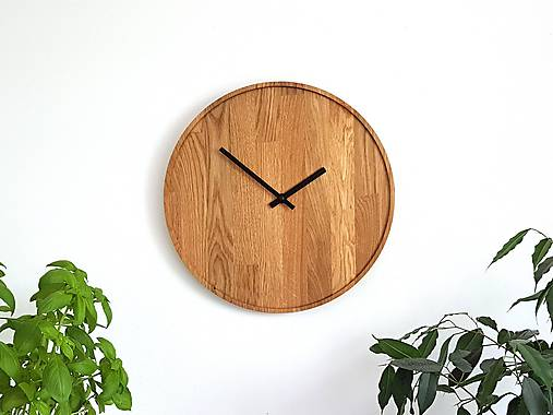 Marc Round Clock - Dubové hodiny